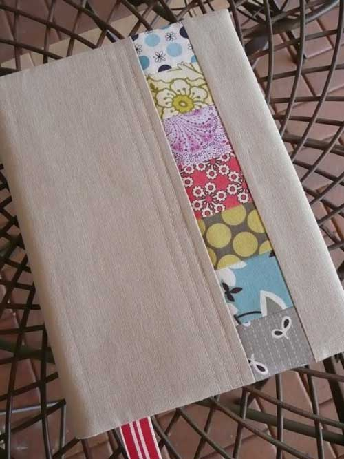 Fabric Book Cover Patterns : Fabric journal cover free sewing tutorial