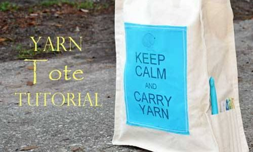 Keep Calm and Carry Yarn Tote – Free Sewing Pattern