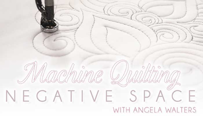 Machine Quilting Negative Space Online Class