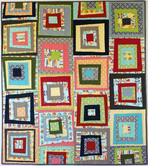 Put a spin on the classic Log Cabin block and create your own unique quilt using one-of-a-kind modern quilt improv blocks.