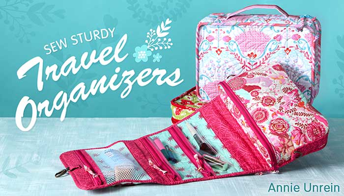 Sew Sturdy Travel Organizers Online Sewing Class
