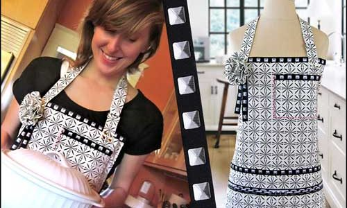 Linen and Ribbon Apron – Free Sewing Tutorial