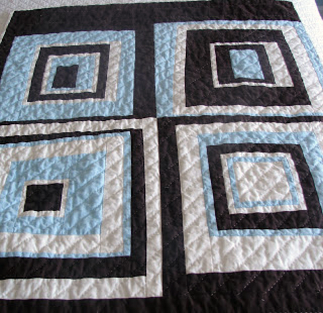 Wonky log cabin block free quilting tutorial love to sew for Modern house quilt block