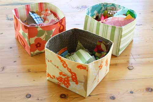 Fabric Scrap Basket - Free Sewing Pattern by Sometimes Crafter