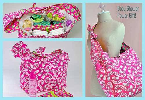 Pretty Bird Quick Trip Diaper Bag - Free Sewing Tutorial - Love to Sew