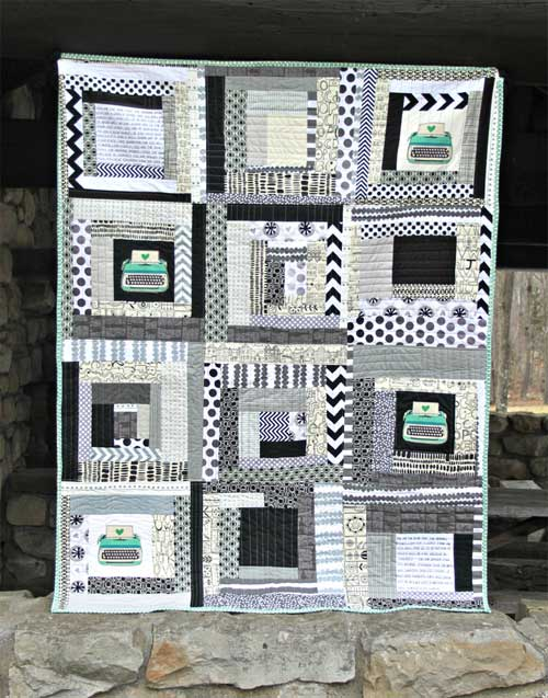 Stitched Typography Quilt – Free Quilt Tutorial