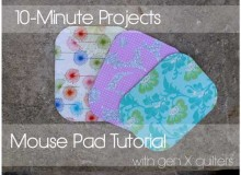 Fabric Mouse Pad – Free Sewing Tutorial