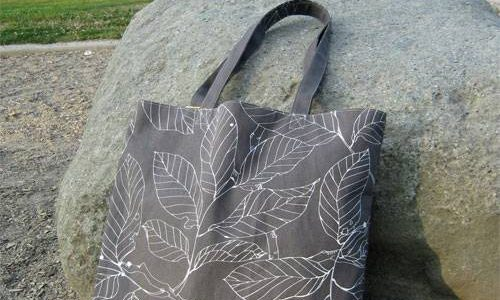 Simple Lined Tote – Free Sewing Pattern