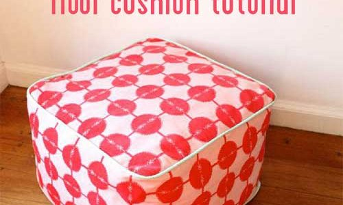 Square Floor Cushion – Free Sewing Pattern