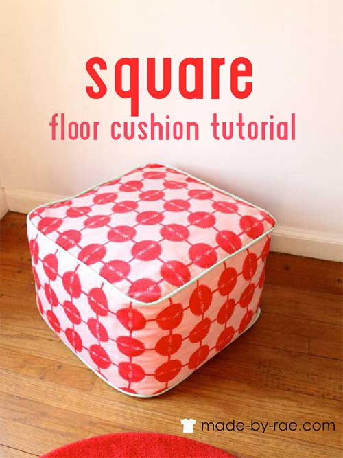 Square Floor Cushion Free Sewing Pattern Love To Sew