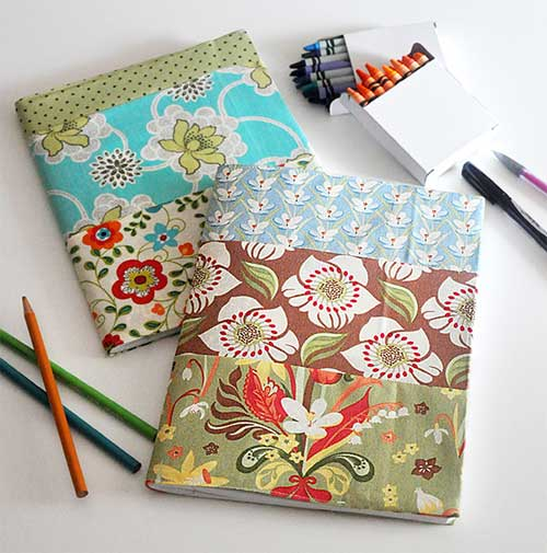 Cloth Book Covers For Textbooks : Free fabric book cover tutorials love to sew