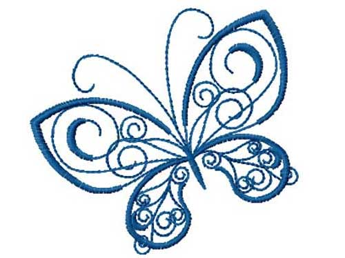 Decorative Butterfly Free Embroidery Design Love To Sew