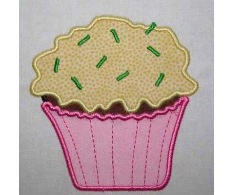 Cupcake Applique Free Embroidery Design Love To Sew