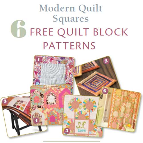 Free eBook - 6 Free Modern Quilt Block Patterns - Love to Sew