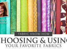 Choosing & Using Your Favorite Fabrics Online Sewing Class