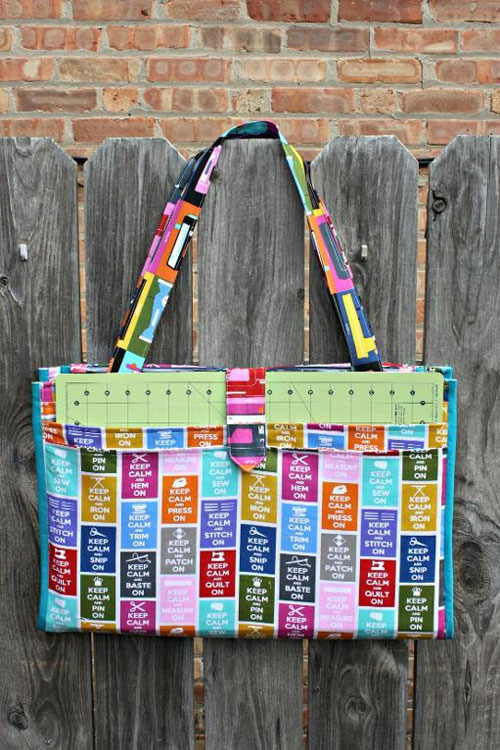 This large bag is designed to tote all of your crafting or sewing supplies with you wherever you go.