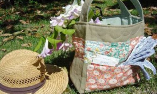 Quilted Garden Tote – Free Sewing Tutorial