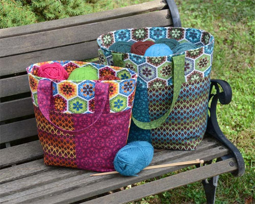 This tote bag has plenty of room for your needlework, supplies, tools, instructions and more.