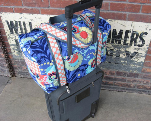 This small carry-on sized duffle bag is perfect for travel through the airport, or can be used as a small weekender bag.