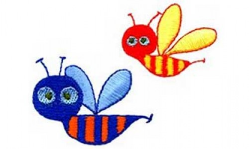 Bees – Free Embroidery Design