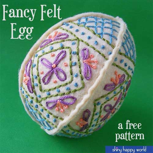 Easy Embroidered Easter Egg – Free Embroidery Design