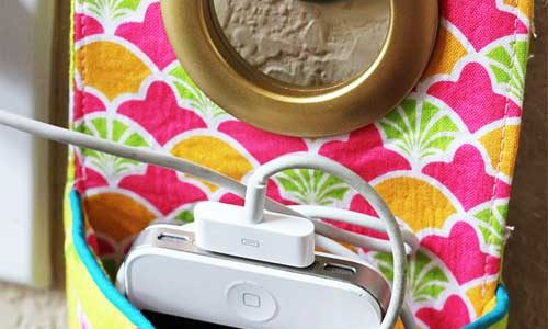 Fabric Phone Charging Station – Free Sewing Tutorial