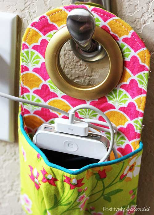 Fabric Phone Charging Station - Free Sewing Tutorial