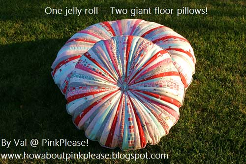 Jelly Roll Floor Pillows - Free Sewing Tutorial