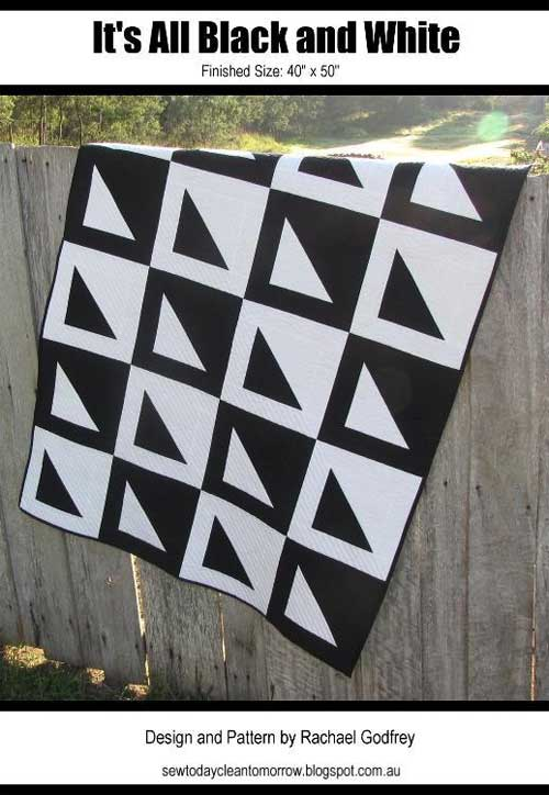 Its all black and white free quilt pattern