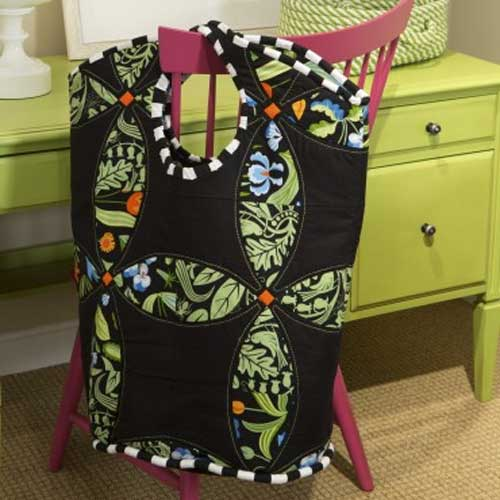 This bag is large enough to carry a small project or shiny new fabric the next time you visit a quilt shop.
