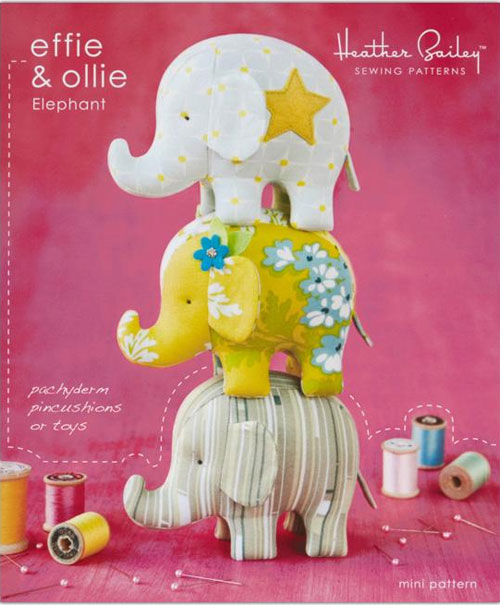 These cute elephants are fun and easy to sew.