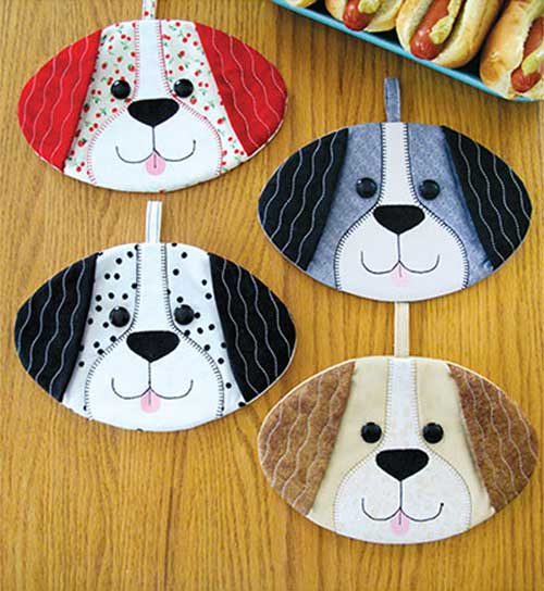 Hot Dogs Hot Pad Sewing Pattern - Love to Sew