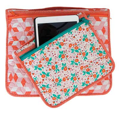 These streamlined zippered organizers are available in two sizes and feature outer and inner pockets.