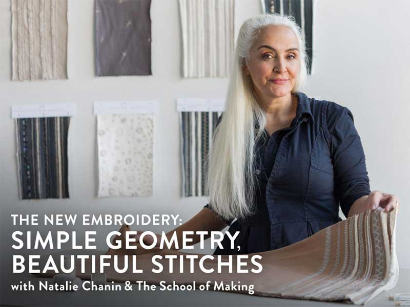 The New Embroidery: Simple Geometry, Beautiful Stitches Online Class