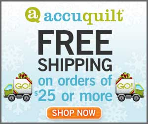 Free shipping from Accuquilt