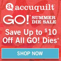Accuquilt Sales Event