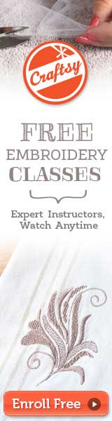 Craftsy Free Embroidery Classes