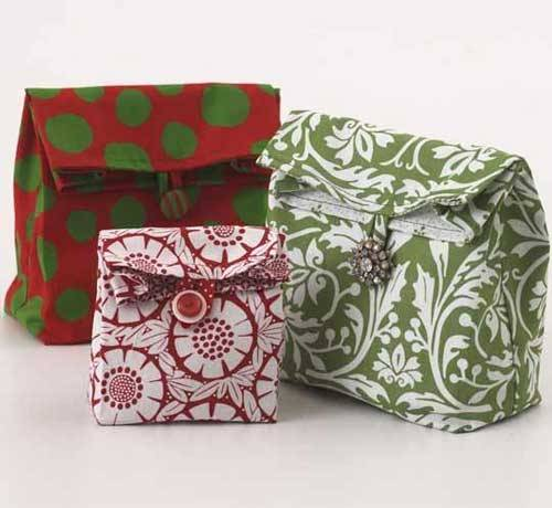Lunch Sack Gift Bags – Free Sewing Pattern