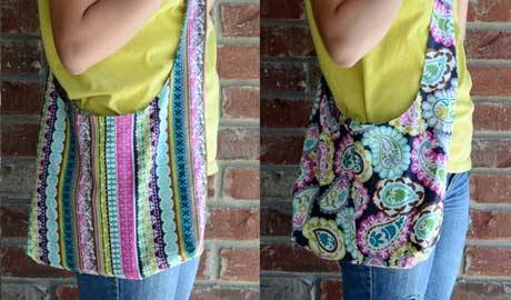 Free Bag Pattern and Tutorial - Reversible Sling Bag