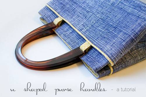 Free Bag Pattern and Tutorial - Purse with U-shaped Handles