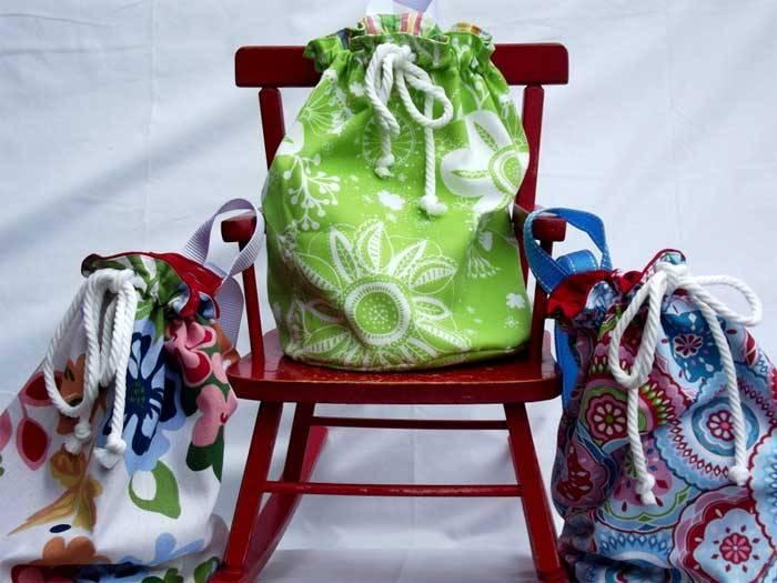 Drawstring Bag - Free Sewing Pattern