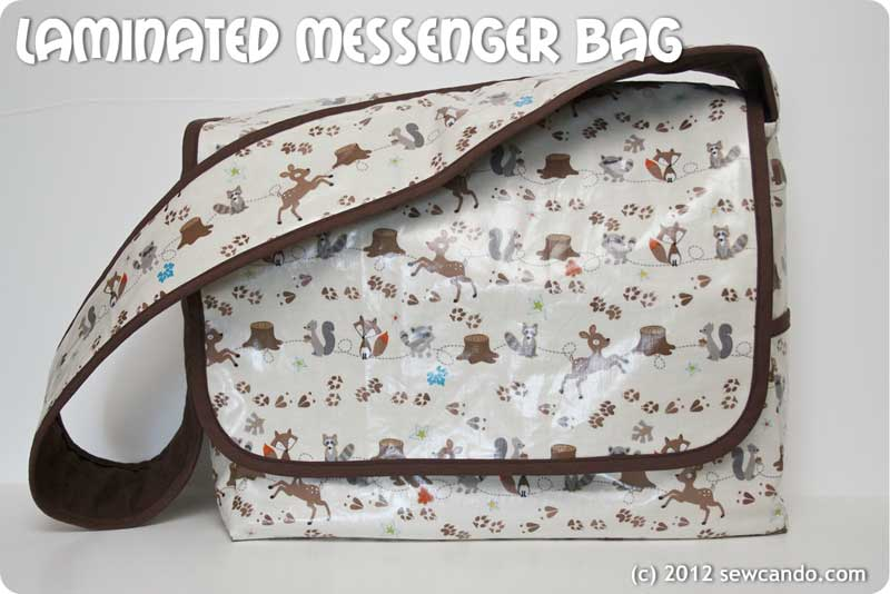 Laminated Messenger Bag – Free Sewing Tutorial
