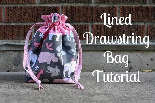 Lined Drawstring Bag - Free Sewing Tutorial