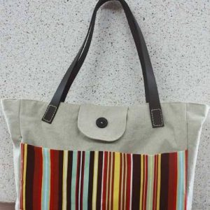 Tote bag with leather straps – Free Sewing Tutorial