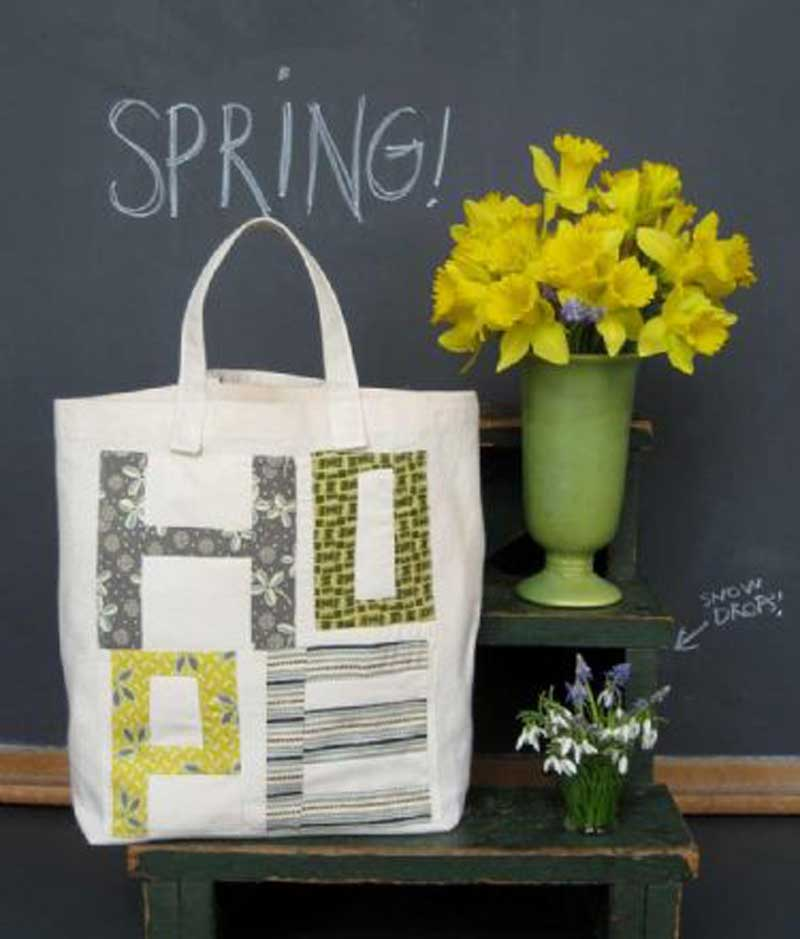 Free Bag Pattern and Tutorial - Hope Market Tote Bag