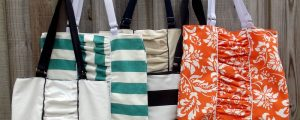 Ruched Tote – Free Sewing Tutorial