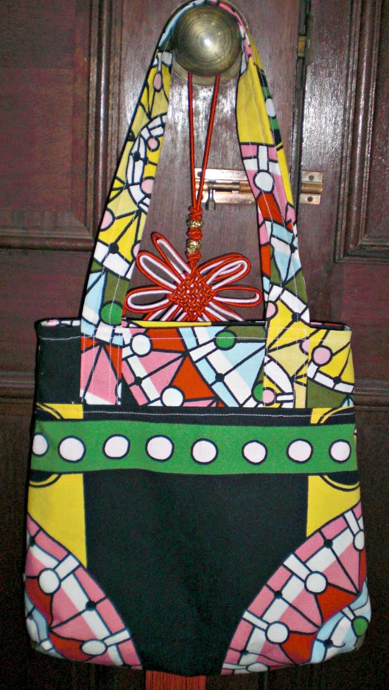 Free Sewing Pattern and Tutorial - Recessed Zipper Shoulder Bag