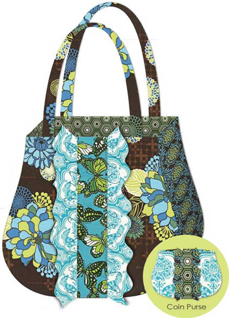 Free Sewing Pattern and Tutorial - Ruffle Tote and Coin Purse