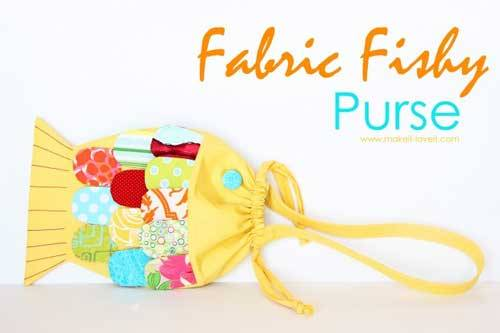 Free Bag Pattern and Tutorial - Fish Purse