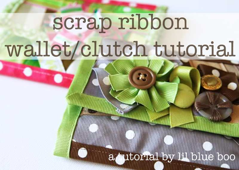 Free Bag Pattern and Tutorial - Scrap Ribbon Clutch
